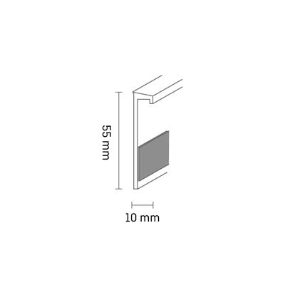Плинтус для ковровой плитки Dollken TLE 55